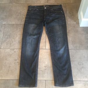 Lightly Distressed Dark Denim Kurt Jeans